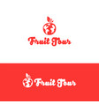 travel logo funny fruit and earth logo template vector image vector image