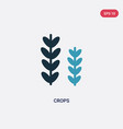 two color crops icon from season concept isolated vector image vector image