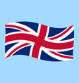 uk - union jack - flag flying vector image vector image