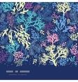 Underwater seaweed horizontal seamless pattern vector image vector image