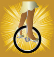 unicycle on golden splash vector image