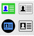 user card eps icon with contour version vector image vector image