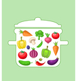 Vegetables in the pan vector image vector image