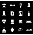 white funeral icon set vector image vector image
