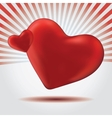with a red valentine heart vector image vector image