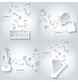 Abstract musical background with notes Music vector image