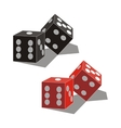 Dice set 01 vector image