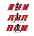 Logo with running woman vector image