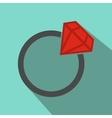Flat wedding ring vector image