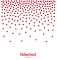 Hearts Gradient Background Valentines Day Card vector image
