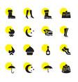 16 seasonal icons vector image vector image