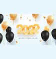 2022 happy new year celebration vector image vector image