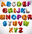 3D font funny colorful alphabet vector image vector image