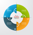 4 steps pie chart circle infographic template vector image vector image
