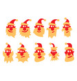 a set santa claus with different emotions vector image