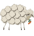 a sheep with flowers vector image