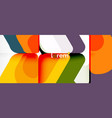 abstract background multicolored geometric shapes vector image vector image