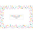 abstract colorful confetti rectangle frame on vector image vector image