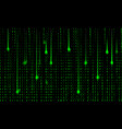 abstract matrix background green and black colors vector image