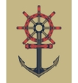 anchor with handwheel vector image vector image