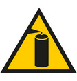 attention spray paint bottle caution paint can vector image vector image