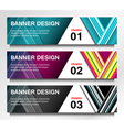 banners modern design vector image