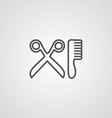 barbershop outline symbol dark on white background vector image vector image