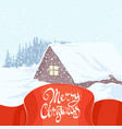 beautiful christmas inscription on the background vector image vector image