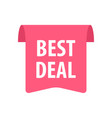 best deal label isolated on white red color vector image vector image