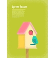 birds and birdhouse vector image