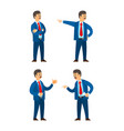 boss professional workers emotions isolated set vector image