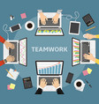 business teamwork business coworkers business vector image