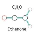 C2H2O ethenone molecule vector image vector image