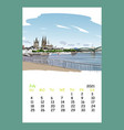 calendar sheet july month 2021 year germany vector image vector image