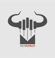 candlestick trading emblem vector image vector image