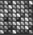 checkers metal background of polished metal plates vector image vector image