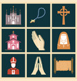 christianity religion religionism flat vector image vector image