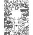 christmas deer greeting card vector image vector image
