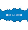 cloud background logo vector image