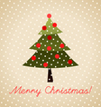 Colorful Christmas Greeting Card vector image
