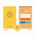 company basketball splash screen and login page vector image vector image