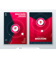 cover set magenta template for brochure banner vector image vector image