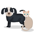 cute dog with cat mascot icon vector image vector image