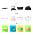 design goods and cargo logo set of vector image vector image