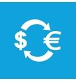 Dollar-euro exchange icon vector image vector image