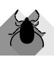dust mite sign black icon vector image