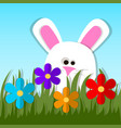 easter bunny or rabbit vector image vector image
