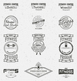 Fitness club badges logos and labels for any use vector image vector image