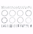 floral ornament frames hand drawn ornamental vector image vector image