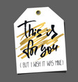 funny editable gift tag lettering and doodles vector image vector image